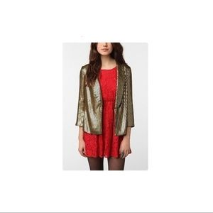Urban Outfitters Sparkle & Fade Gold Sequin Blazer